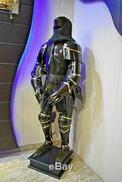 Handmade Full Body Armor 6 Feet Suit Medieval Knight Suit of 15th Century Combat