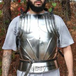 Knight Armor Medieval Warrior suit German Gothic Body Jacket Breastplate Replica