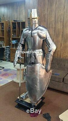 Knight Medieval Knight Suit Of Armor Templar Combat Full Body Armour Stand