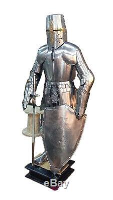 Knight Medieval Knight Suit Of Armor Templar Combat Full Body Armour Stand Mm9