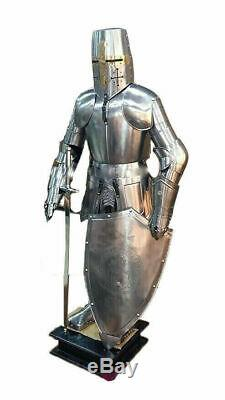 Knight Medieval Knight Suit Of Armor Templar Combat Full Body Armour With Stand