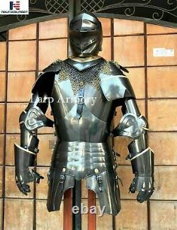 Knight Suit of Armour Medieval Times Costume Wearable (without stand)