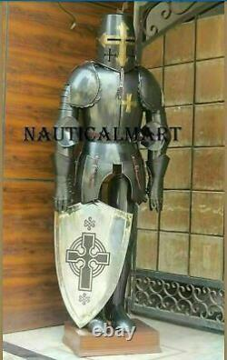 Knights Templar Suit Of Armour Medieval Roman Armor Full Size