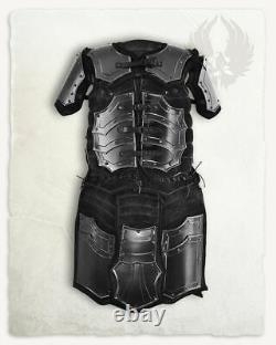 LARP 18GA Steel Medieval Knight FAFNIR BRIGANTINE Half Armor Suit Pauldrons