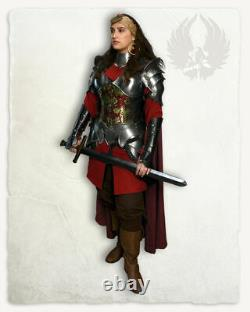 LARP 18GA Steel Medieval Knight Queen Lady Woman Lena Full Suit Of Armor