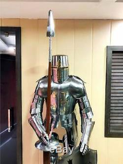 LARP Vintage Medieval Wearable Knight Crusador Full Suit of Armour Antique Armor