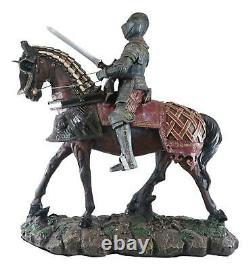 Large 18 Tall Medieval Royal Calvary Knight Statue Suit of Armor Figurine Resin