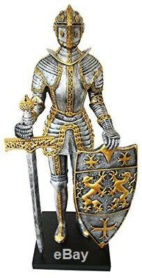 Large 21.25 Tall Suite of Armor Medieval Knight Champion Decorative Figurine