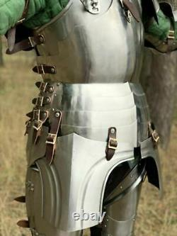 Larp Crusader Wearable Armor Medieval Gothic Vintage Knight Body Of Armour Suit