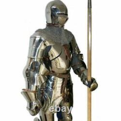 Larp Halloween Wearable Armor Medieval Gothic Vintage Knight Body Of Armour Suit