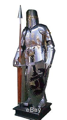 Lot Of 3 Armour Medieval Wearable Knight Crusader Suit Armor Collectible Costume