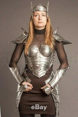 MEDIEVAL Knight Elf Lady Full Armor Suit With Cuirass/Shoulder/Skirt/Bracers