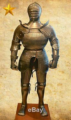 Maximilian SCA LARP Rare 16 Century Medieval knight's Full Set Armor Suit