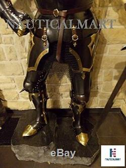 Medieval 15th Century Body Wearable Knight Gothic Full Suit of Armor with Horns