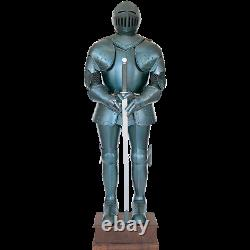 Medieval 16th Century Blued Full Suit of Armor Knight Crusader Armor