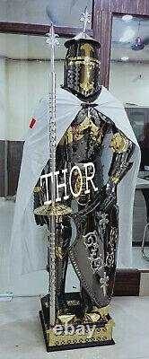 Medieval 6Feet Stainless Steel Rust Fre full body Wearable Knight Armor Suit