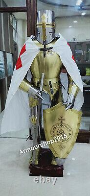 Medieval Armour Knight Wearable Suit Of Armor Crusader Combat Full Body