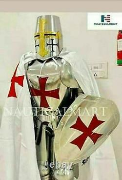Medieval Armour Knight Wearable Suit Of Armor Crusader Combat Full Body Sword