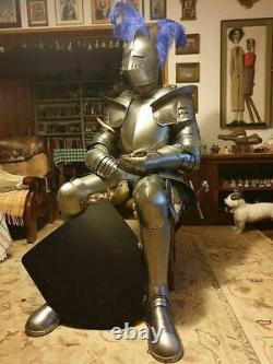 Medieval Armour Knight Wearable Suit Of Armor Crusader Costume Combat Full Body