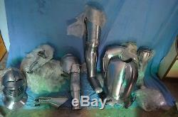Medieval Armour Plate Knight Wearable Full Suit of Armor LARP Costume