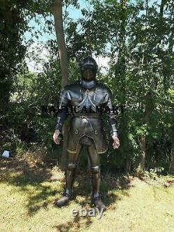 Medieval Black Warrior Knight Gothic Full Suit Of Armor Wearable Medieval