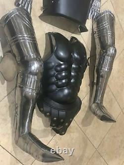 Medieval Black Wearable Crusador Knight Suit Of Armor Combat Full Body Armour
