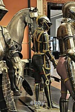 Medieval Brass Armour Knight Wearable Suit Of Armor Crusader Combat Full Body