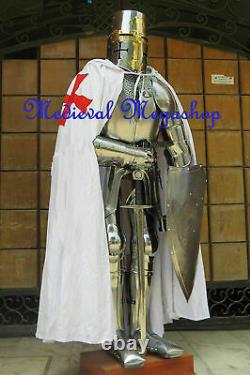 Medieval Combat Costume Steel Knight Suit Of Armor Combat Full Body Armour Stand