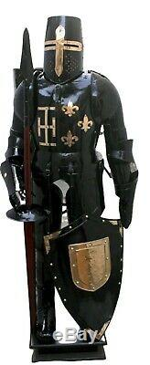Medieval Combat Full Body Armour Medieval Knight Suit Adult Halloween LARP