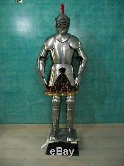 Medieval Combat Knight Suit of Armor 15th Century Full Body Suit Armour W Stand