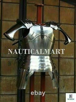 Medieval Epic Knight Halloween Half Suit of Armour Breastplate Wearable Costume