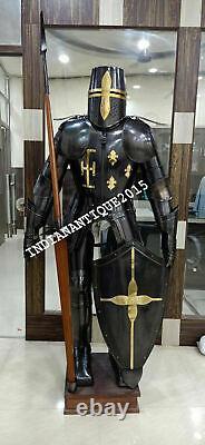 Medieval Full Suit of Armor Dark Knight Wearable Halloween Costume LARP