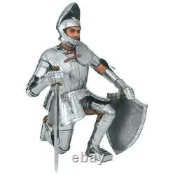 Medieval Fully Wearable Maximillian Knight Full Suit of Armor Warrior Costume