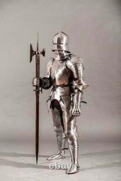 Medieval Gothic Armor with Axe spears Battle Warrior Full Body Knight Armor Suit