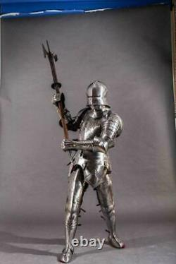 Medieval Gothic Armour Suit with Axe Spears Warrior Full Body Knight Armor