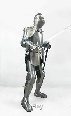 Medieval Gothic Knight Suit Of Combat Body Armour Wearable Halloween Day Costume