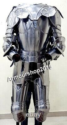 Medieval Half Suit of Knights Armor High Quality for Home and Office Decoration