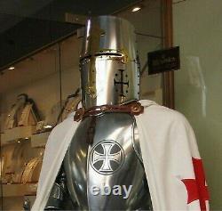 Medieval Halloween Costume Armour Knight Suit Of Armor Templar Combat Full Body