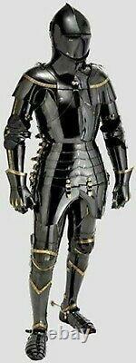 Medieval Knight Black Suit Of Armor Combat Full Body Halloween Armor Knight Armo