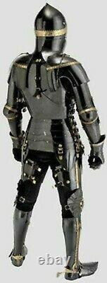 Medieval Knight Black Suit Of Armor Combat Full Body Halloween Knight Armor