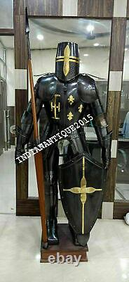 Medieval Knight Brass Wearable Suit Of Armour Crusader Combat Full Body Style
