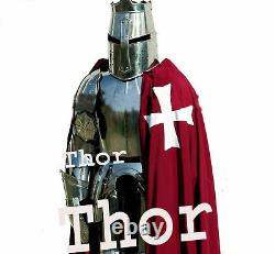 Medieval Knight Crusader Full Suit of Armour Collectibles Armor Costume