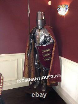 Medieval Knight Crusader Full Suit of Templar Armour Collectible Halloween