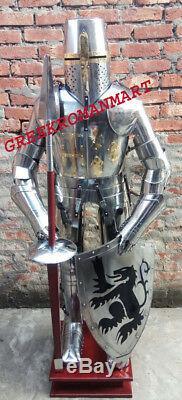 Medieval Knight Full Suit Of Armor Length 6 Feet Replica Nikil Fnishing