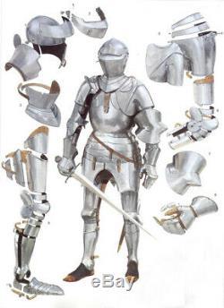 Medieval Knight German Suit of Armor Warrior armor Suit 18gauge Steel