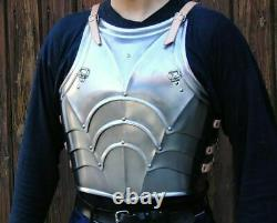 Medieval Knight Gothic Knight Half Body Armor Suit Cuirass W Pauldrons Brace
