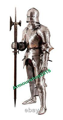 Medieval Knight Gothic Steel Wearable Full Suit of Armor