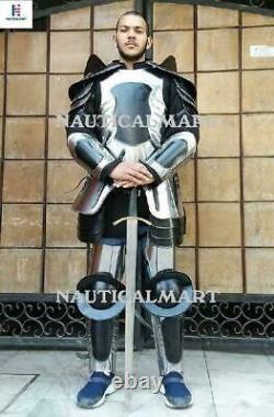 Medieval Knight Larp Wearable Full Suit Of Armor Size 6 Feet Costume