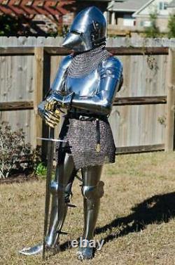 Medieval Knight Pig Face Armor Suit With Chainmail Combat Full Body Suit Armor