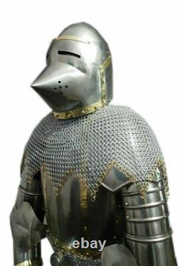 Medieval Knight Pig face Battle Warrior Full Body Armour Suit 18 Gauge Steel